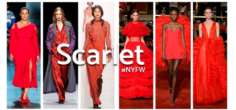 Scarlet fever: The most romantic looks from the #NYFW runway